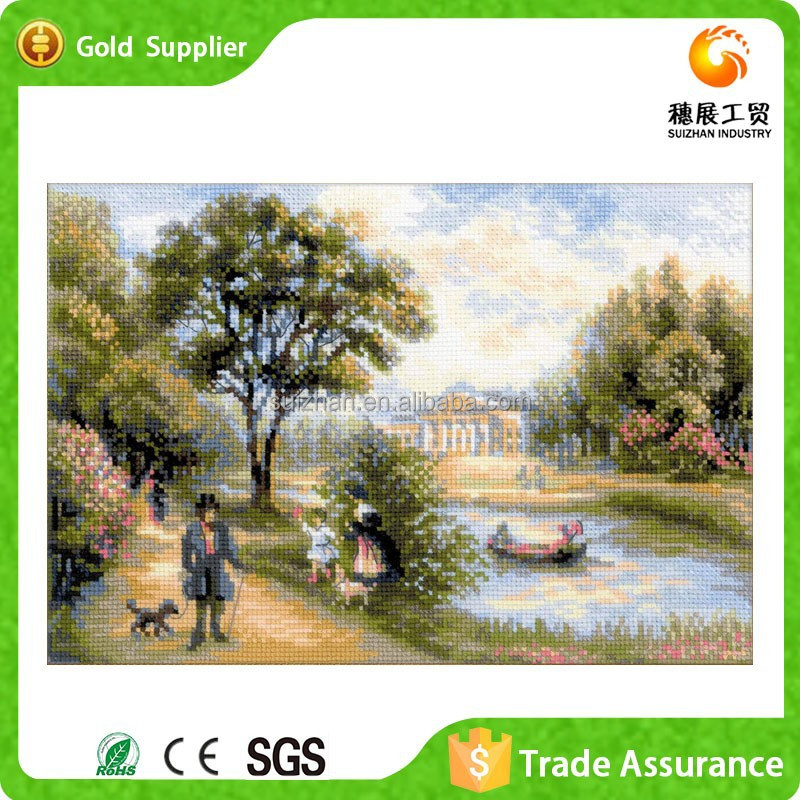 Yiwu supply canvas oil paint by numbers painting art acrylic