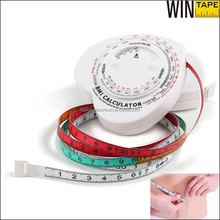 1.5 Meter Unique New Body Mass Index Tape Measure Health Products With BMI Calculator