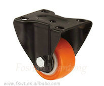 Rigid PU/PVC Small Roller 2 Inch Caster Wheel