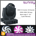 Dj Night Club Stage Lamp Ip20 7500K Dmx512 Control 18 Channels Sharpy Beam 330W 15R Beam Moving Head
