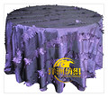 "120"" round Wedding Taffeta handmade flower table cloth wedding cloth"