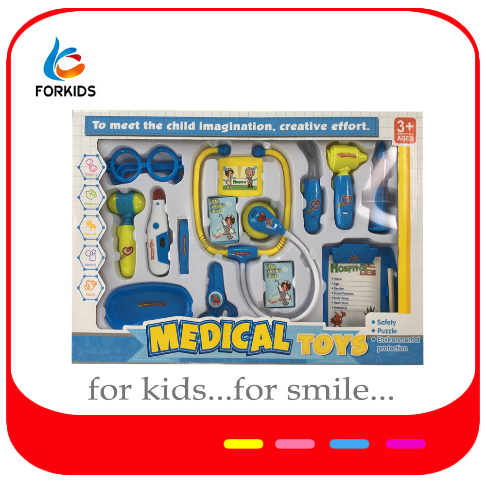 Kids medical equipment kit toys,preschool kids toy hospital set for pretend play