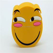 Newest Emoji Power Bank Battery case 2000MAH Charger Cartoon USB For Iphone 5S 6 6S 7 7plus Samsung