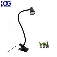 Flexible Office Study Room USB LED Reading Lamp with Clip and Gooseneck