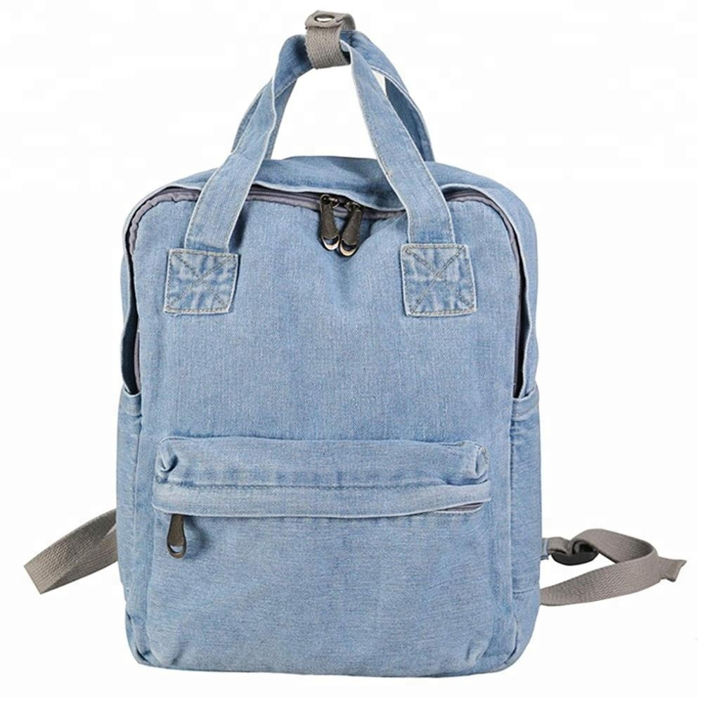 Young Girls Jeans School Backpack Factory Cheap Bag