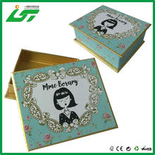 Cuatomized gift box, lid and base box structure with custom design, gold inside box