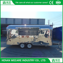 High quality bbq food trailer mobile food vending van for sale