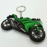 crazy hot sale type in 2015 custom rubber keyring motorcycle keychains