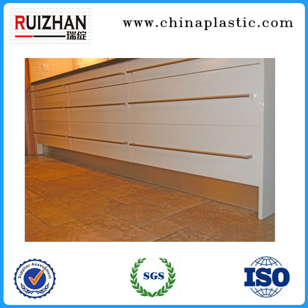 Waterproof Aluminum Kitchen Cabinet PVC Skirting Board Base Board