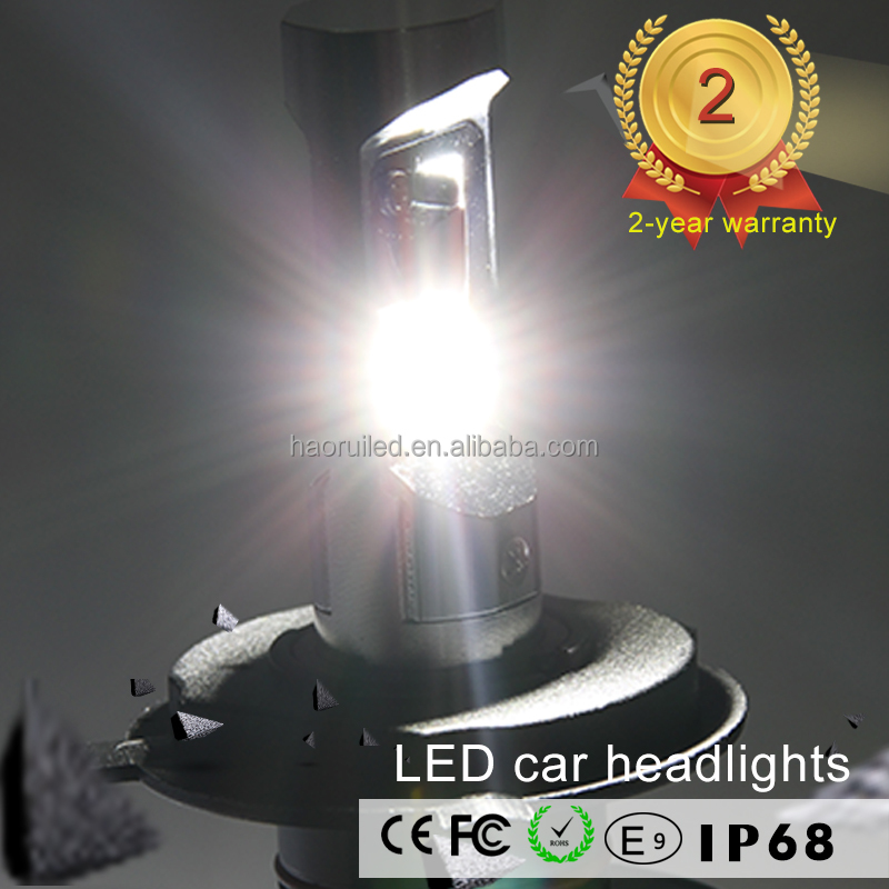 Auto Spare Parts H4 LED Headlights car with 50W 7000lm High/Low Beam LED Headlight bulbs