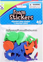 Alphabet Letter Kids Craft EVA foam stickers