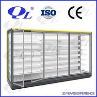 Supermarket open cooler,supermarket open chiller double wall gel freezer mugs