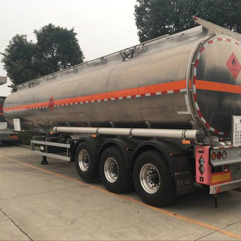 China manufacture 43 m3 chemical liquid transport semi-trailer truck