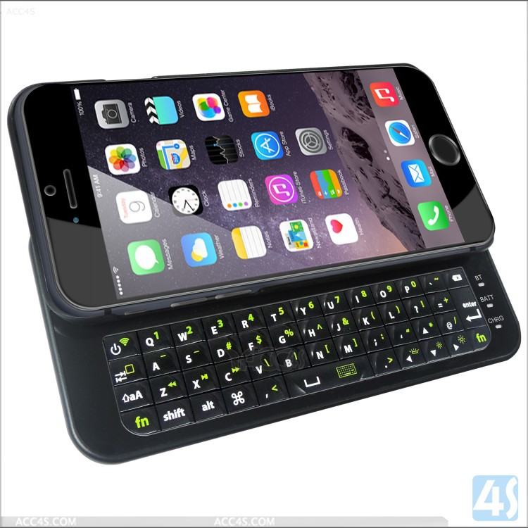 bluetooth ABS plastic case keyboard for iPhone6/6plus