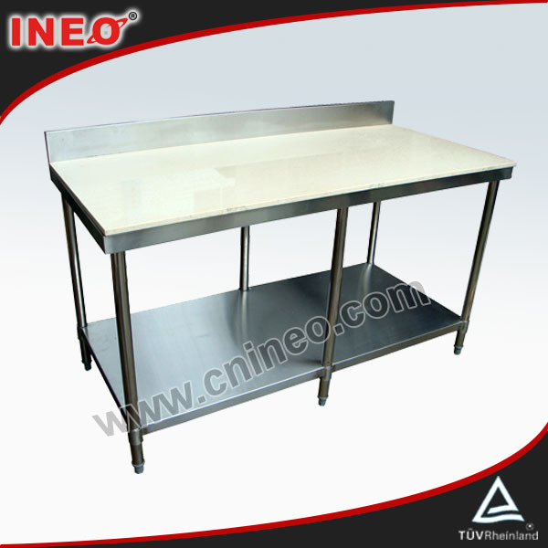 Commerciale in acciaio inox tavolo di lavoro per la vendita usato in cucina piano in marmo - Tavolo in acciaio inox usato ...