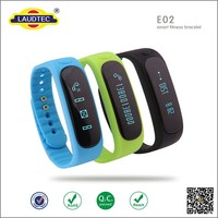 2015 New Design Smart Wrist Watch E02 Smartband Bluetooth Fitness Tracker Health Bracelet Sports Wristband for android and ios