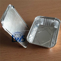 aluminum food container with lids, restaurant use aluminum foil lunch box/food tray