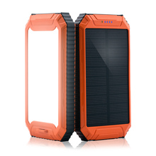 PowerGreen LED Flashlight Solar Power Bank 10000mAh Outdoor Solar Power Charger for Phone
