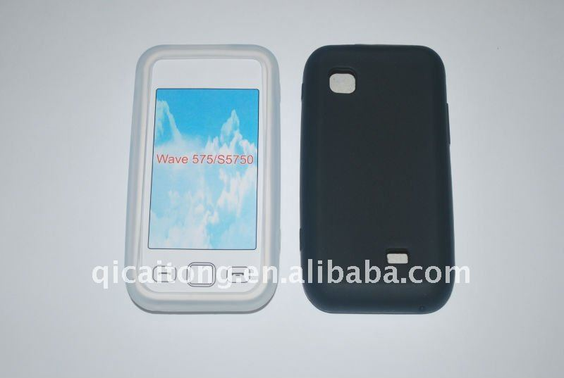 custome silicon double colors case for SUMSUNG s5670 galaxy fit