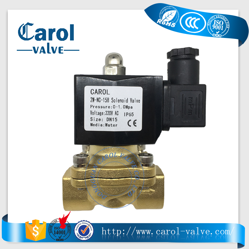 2W250-25 1 inch brass material normally closed 220v water solenoid valve