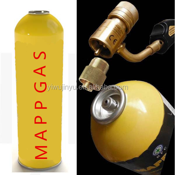 Mapp gas cylinder use welding gas / brazing gas 16oz / 453G for welding cut