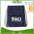 promotional drawstring bag 190D polyester 210D drawstring cord sport bag