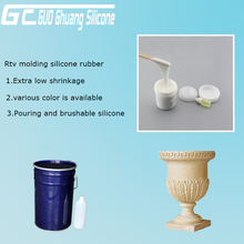 RTV2 silicone mold making silicon rubber for Cement plaster decrative moulding
