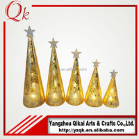 cheap and good quality glass christmas tree with led light for sale
