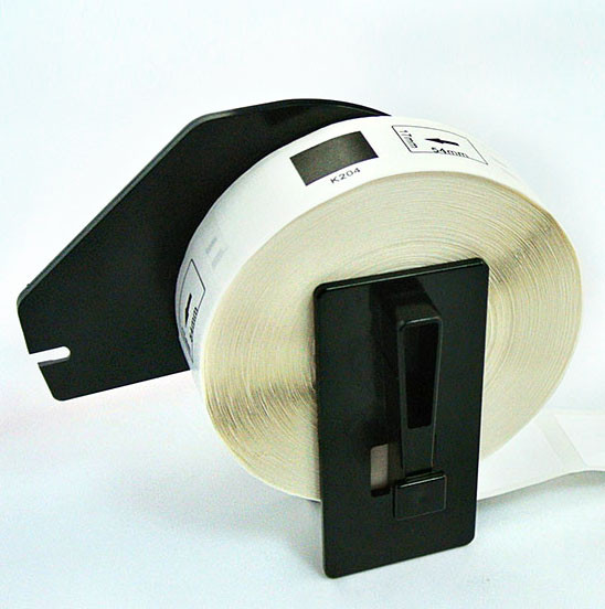 Wholesale 24mmx24mm 1000Pages/Rape Black On White Label Supplies For Brother