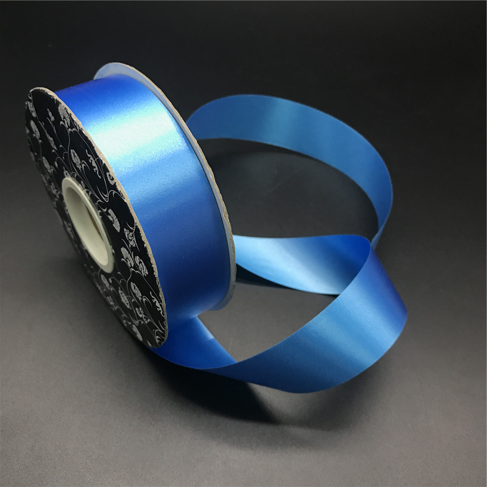 Cheap luxury Outdoor Christmas blue plastic ribbon for gift packaging