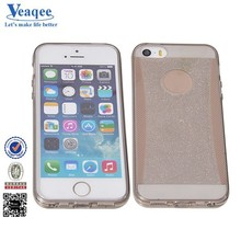 Veaqee fashionable wiredrawing cell phone case soft colorful tpu case for iphone 5s
