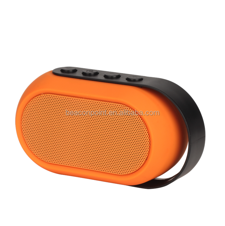 Hot sale New Portable Bluetooth Speaker With Plastic Handle small size 300mAh battery