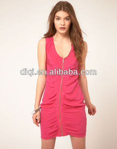 2013 latest sexy hot dress design for ladies zipper front sexy sundress 3925909ac