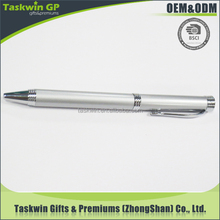 made in China metal ball pen/silver promotional pen with free logo