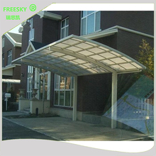 polycarbonate roof sheet metal structure cantilever car shed shelter shade garage parking aluminum single slope carport canopy