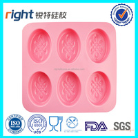 6 cavities silicone soap mould