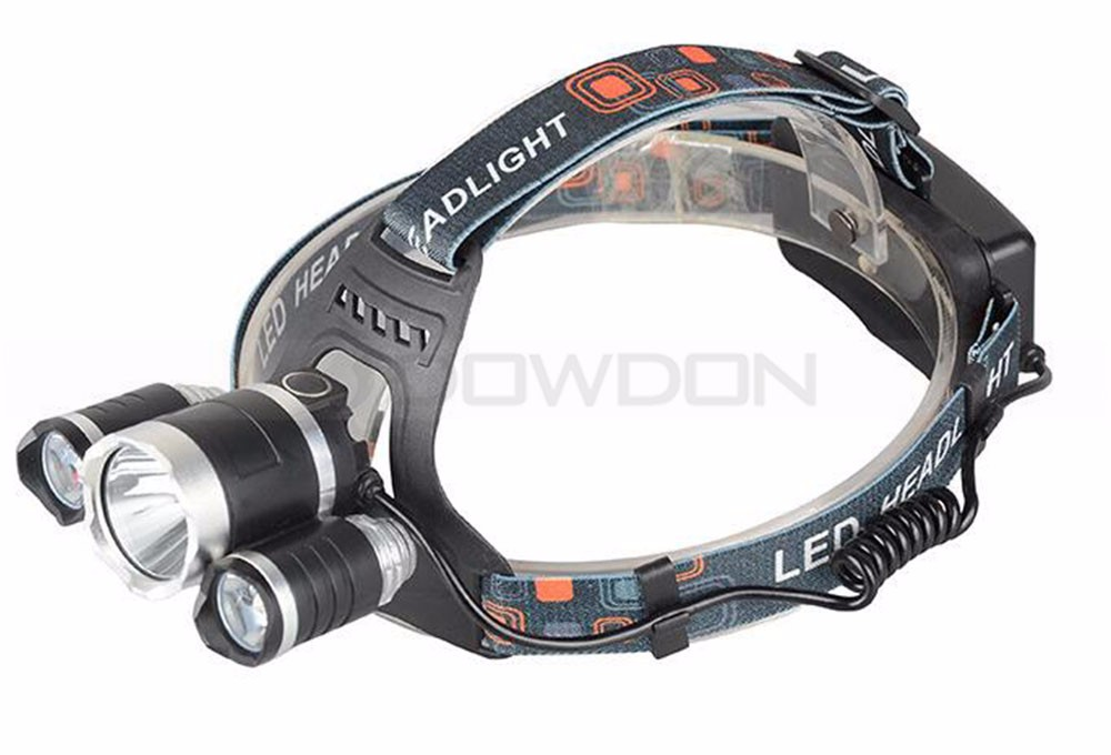 Waterproof Aluminium Alloy Camping USB HeadLight 3000LM Ultra Bright 3x XML T6 LED Rechargeable Headlamp