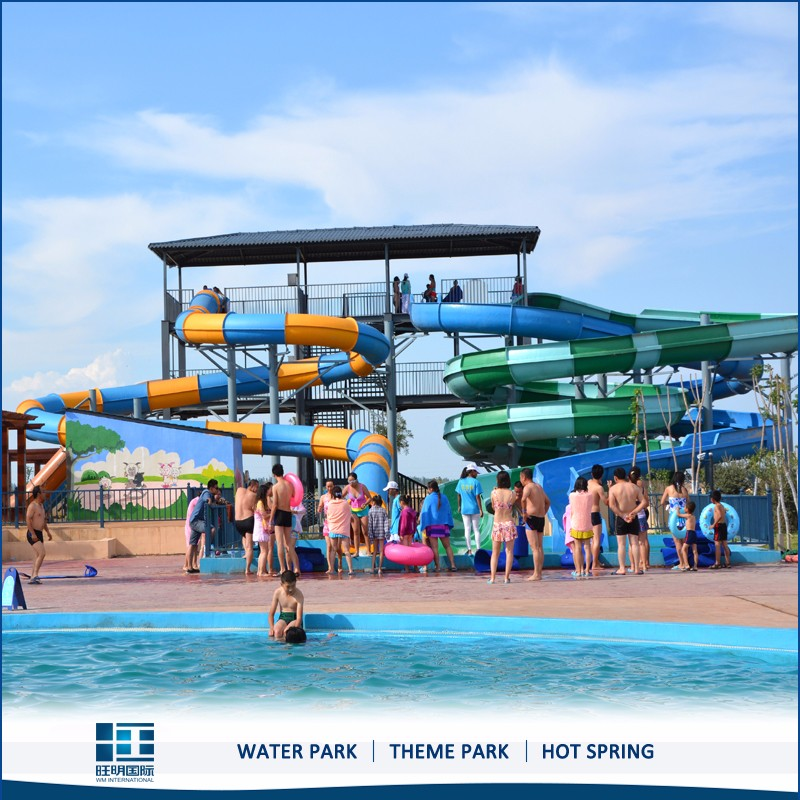 Hot Sale Spiral Water Slide,Long Plastic Water Slide For Water Park