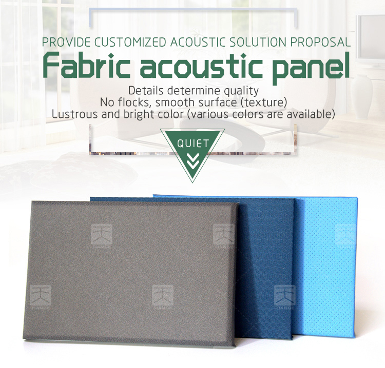 Sound proof absorbing acoustic fabric panel for cinema