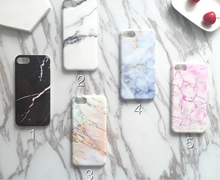 New arrival high quality Multicolored TPU Marble phone case for iPhone 7