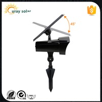 Waterproof Solar Spotlight Adjustable Wall Light Landscape Light Security Lighting
