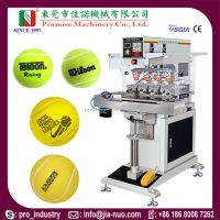 Semi-automatic Model JN-CP4-200S Closed Ink Cup 4 Color Tennis Ball Pad Printing Machine