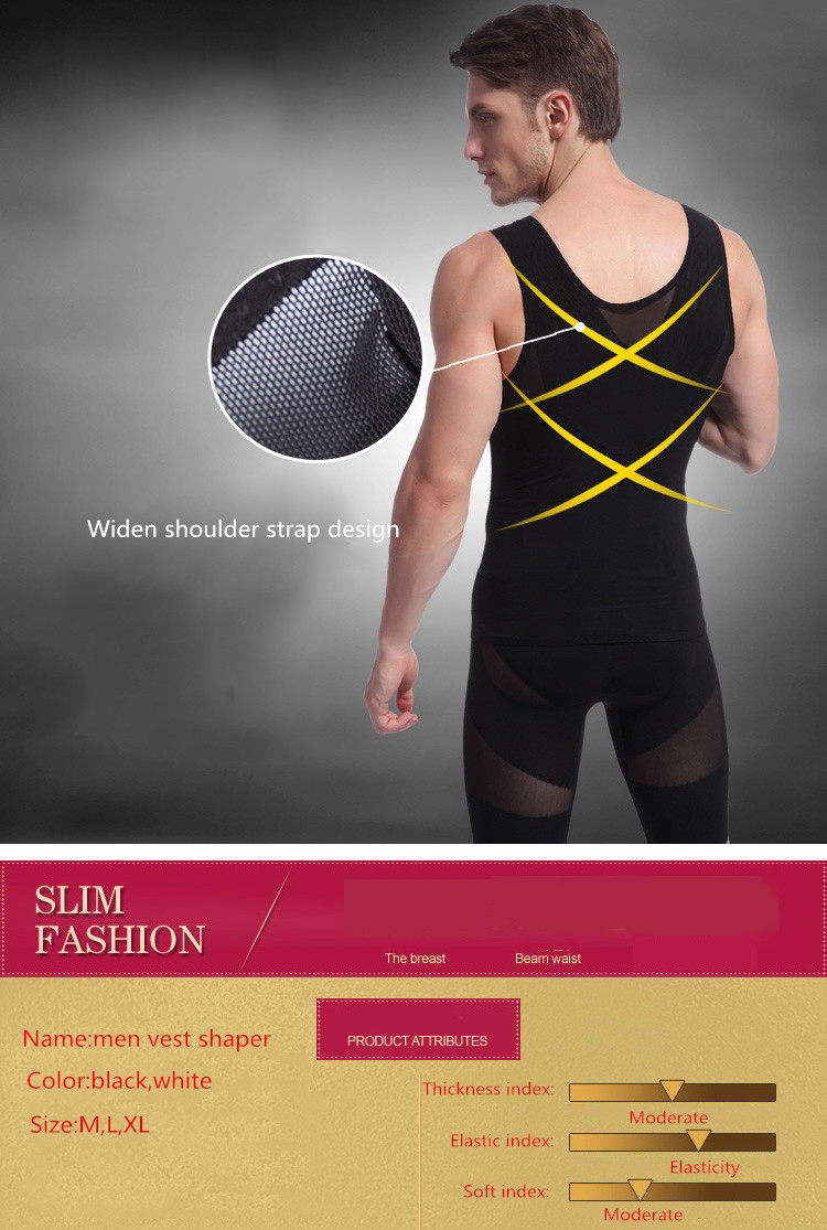 Sport Men's Slimming Tight Body Shaper Control Shapewear Gym Workout Top Shirt
