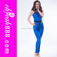 Blue sexy hot sale adult thermal jumpsuit