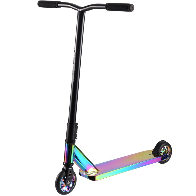 Adult Pro New 2019 Neo Chrome rainbow trick pro stunt Scooters kick scooter <strong>110</strong> mm Stunt Scooter