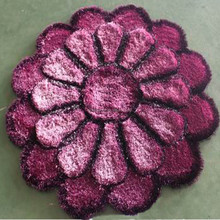 handmade rubber backed artificial flower 3.75 rug canvas