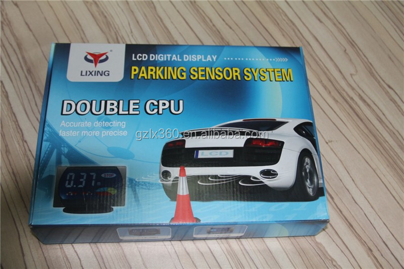 Lixing NEWEST LCD Display Parking Sensor Reverse Radar Alert System with 4 detectors