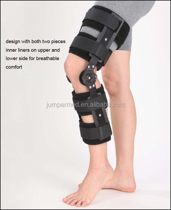 CE Approval POST-OP Hinged Knee Brace H1 -ROM Motion Control knee pads