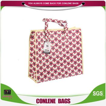 Latest product OEM quality eco-friendly floral printed pp bag