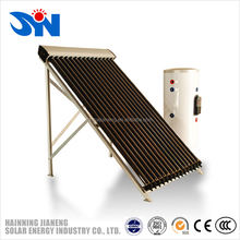 Pressure solar vacuum collector for split pressured slar water heater